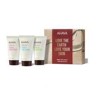 3 Pc AHAVA Hand Cream Lotion Shower Gel Travel Set
